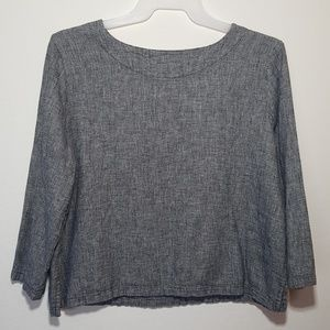 """Hot Cotton Tops - Hot Cotton by Marc Ware Gray 3/4"""" Sleeve Top"""